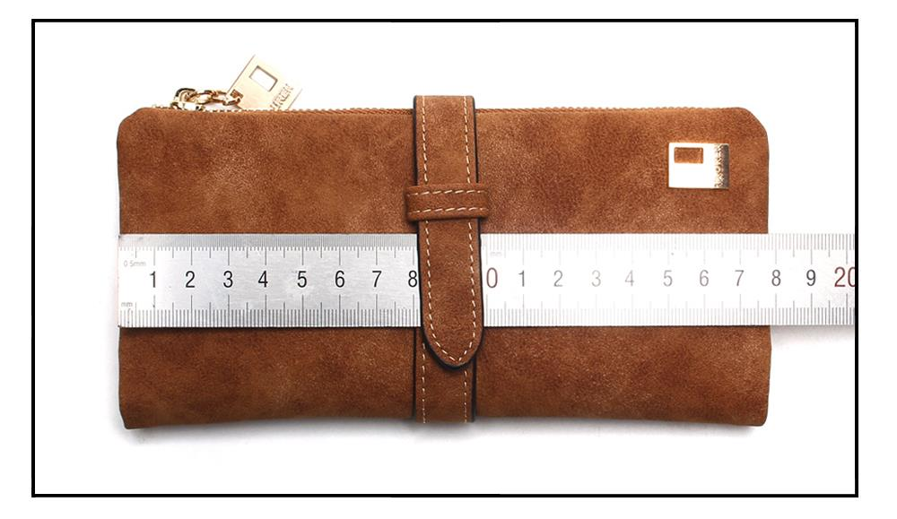 Women's Wallet Nubuck Zipper Purse