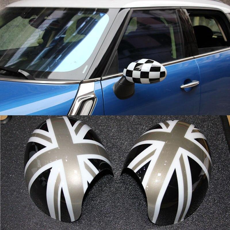 2pcs PC 3D Car Rearview Mirror Sticker For Bmw Mini Cooper