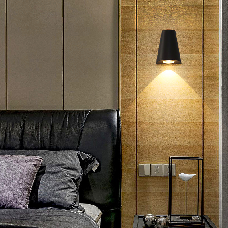 Nordic creative personality wall lamp aisle bedroom bedside balcony hotel LED simple background wall lights postmodern simple bedside wall lamp nordic creative cafe bar livingroom bedroom aisle background decoration lamp free shipping