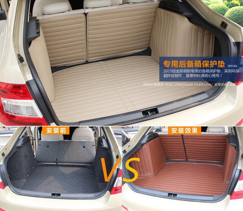 Accessories FIT FOR SKODA OCTAVIA SEDAN REAR 2015 2016 2017 TRUNK CARGO MAT BOOT LINER LUGGAGE TRAY PROTECTOR for chevrolet captiva 2008 2017 5 7 seat full rear trunk tray liner cargo mat floor protector foot pad mats embroidery leather