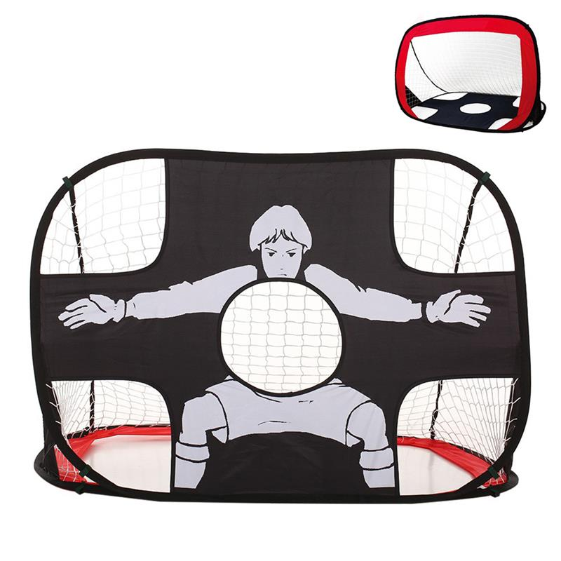 RUNACC 2 in 1 Kids Soccer Goal Pop Up Soccer Net Foldable Soccer Target Portable Football Training Net with Carry Bag