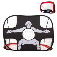 RUNACC 2 in 1 Kids Soccer Goal Pop Up Soccer Net Foldable Soccer Target Portable Football Training Net with Carry Bag