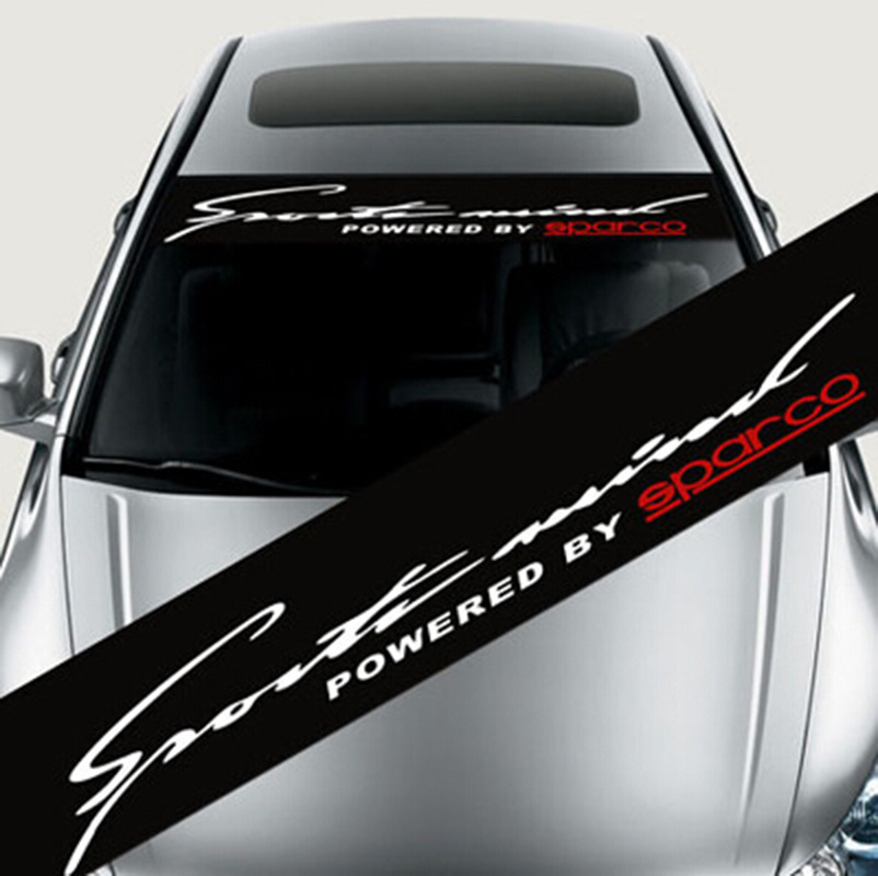 Impermeable Auto Ventana de coche SPEED RACING etiqueta frontal parabrisas para BMW para Audi para Peugeot Coche estilo