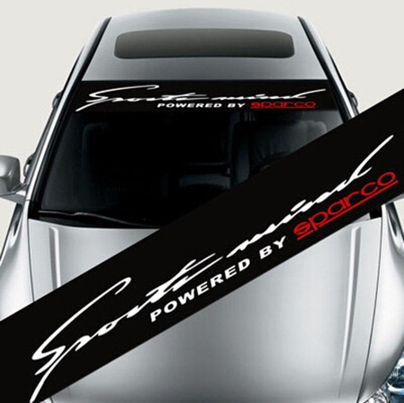 Impermeable auto Ventana de coche velocidad de la etiqueta engomada para bmw audi Peugeot Front windshield-Car styling