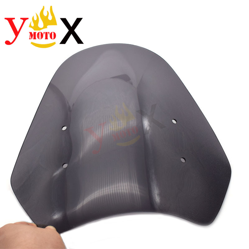 Standard Height Motorcycle Clear Windshield Windscreen Deflector Airflow For KAWASAKI VERSYS 650 KLE650 2007 2009 2008