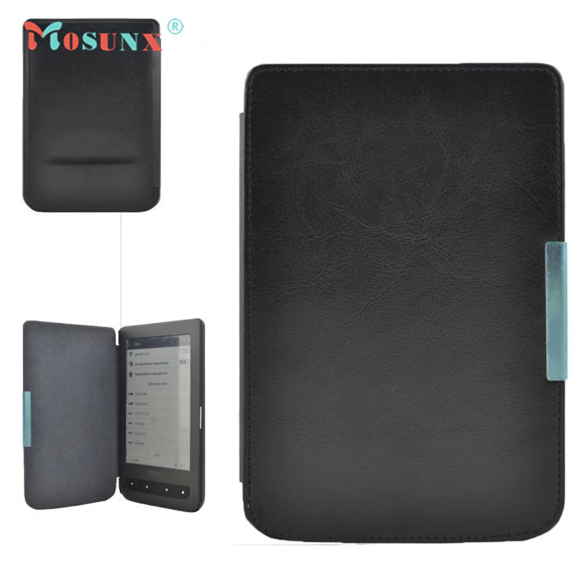 Hot-sale MOSUNX Tablet New Stand Folio Flip Crazy Horse Leather Case Cover For Pocketbook 614 624 626 640 E-reader E-book Gifts pocketbook 640 white