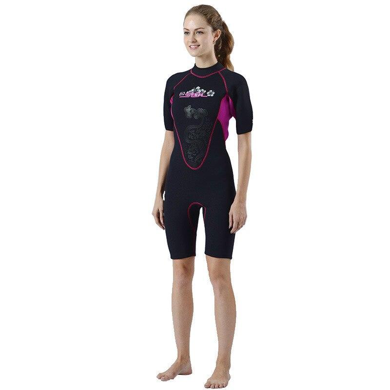 SLINX Shorty Wetsuit Women Short Sleeve 3mm Neoprene Wetsuits for Waterski Snorkel Surf Diving Women Swimsuit swimwear k1x k1x shorty crew jersey