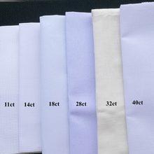 Tela de punto de cruz para manualidades, tejido de punto de cruz de 40x40cm, 28ct, 18ct, 16ct, 11ct, bricolaje, suministros de costura, bordado artesanal