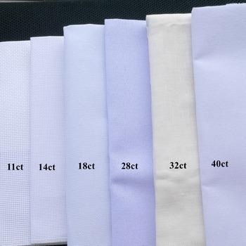 40x40cm Aida tkaniny 18ct 28ct 40ct ściegu tkaniny płótno 40ct ma punkt wady DIY rzemieślnicze materiały przyszywany haft tanie i dobre opinie DREAMCREATE Obrazy Stałe Kanwa 100 COTTON Plastic bag Duszpasterska Składane