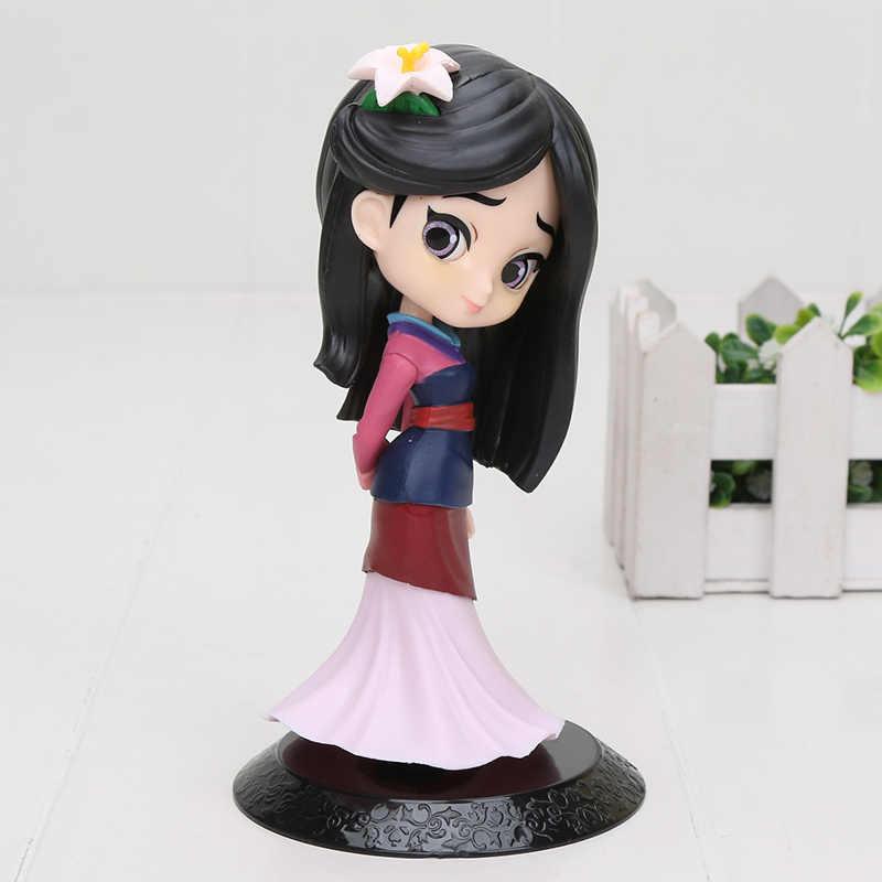 11cm q posket princesa figura mulan neve branco rapunzel figura decorações do bolo ação pvc modelo de brinquedo menina presentes de aniversário