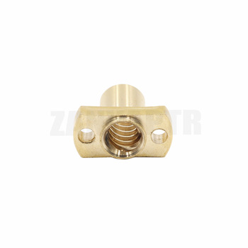 1pc T8 nut H flange copper nut pitch 2mm lead 8mm for T8 screw trapezoidal screw