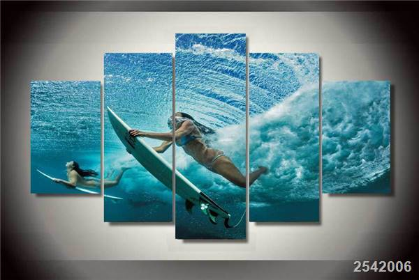 Hd Printed Girl Surfing Painting On Canvas Room Decoration Print Poster Picture Canvas Free Shipping/Ny-1584 Christmas gift
