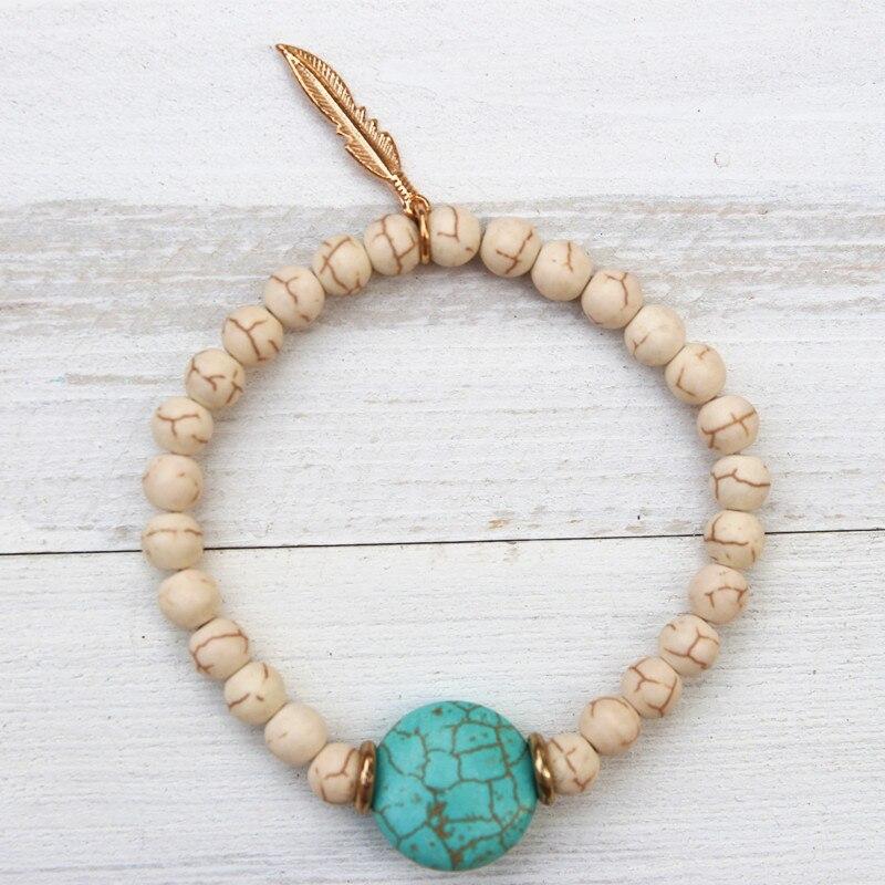 Dongmu jewellery 2017 new lady bohemian crystal ladies bracelet fashion charm wooden beads bracelet Christmas gifts