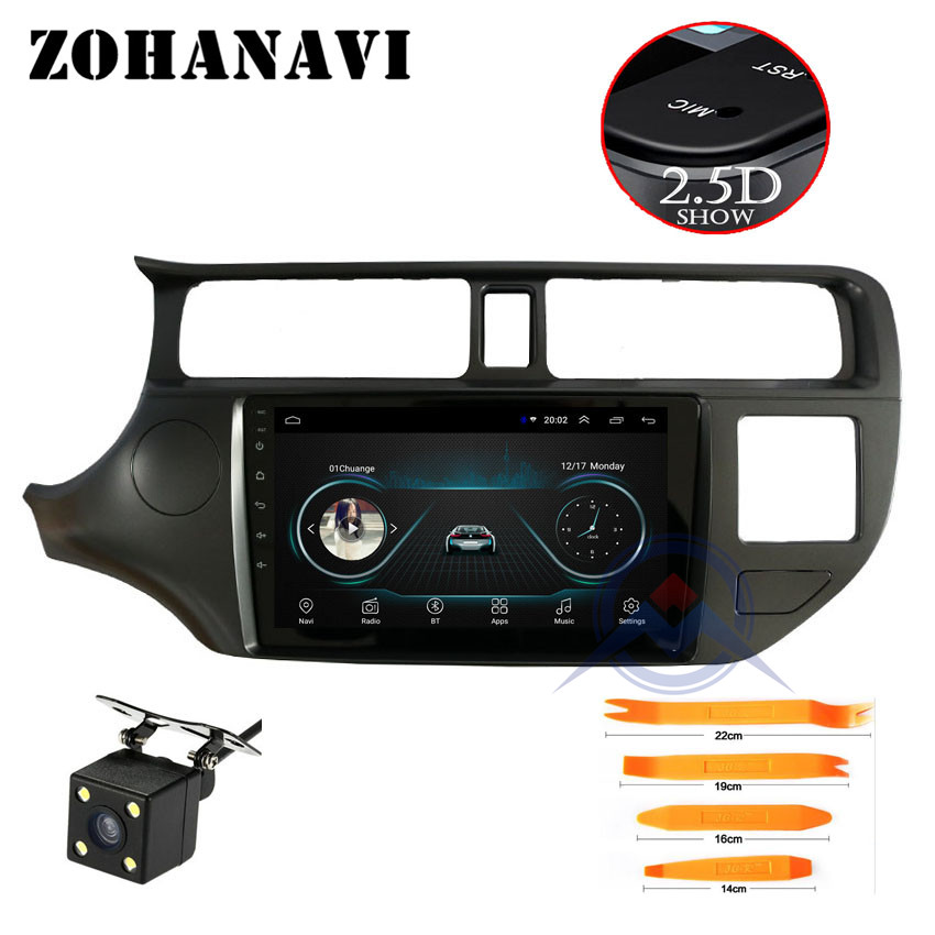 ZOHANAVI 2 5D Android Car DVD Player for KIA Rio K3 2012 2013 2014 2015 2016