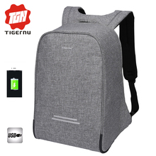 Tigernu Multifunction Anti thief USB charging 15 6inch laptop backpack male high quality school Nylon Bagpack