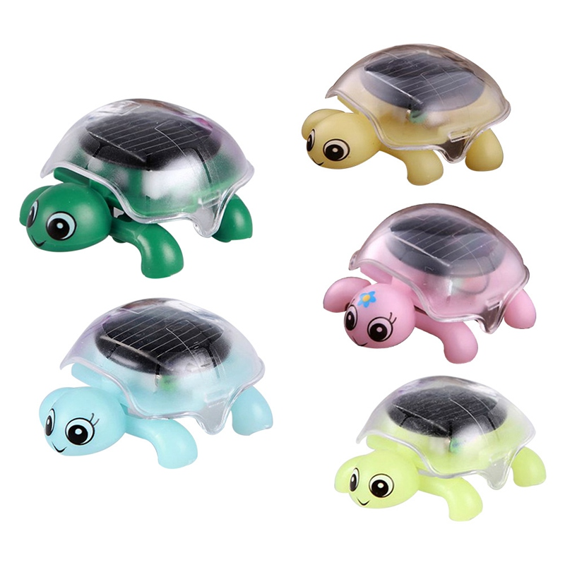 Novelty & Gag Toys Solar Turtle Toys Animal Developing Experiments For Kids Scientific Solar Powered Toys For Children