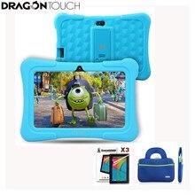 DragonTouch Y88X плюс дюймов 7 дюймов синий Детские планшеты для детей 4 ядра Android 5,1 + планшеты сумка экран протектор подарки ребенка