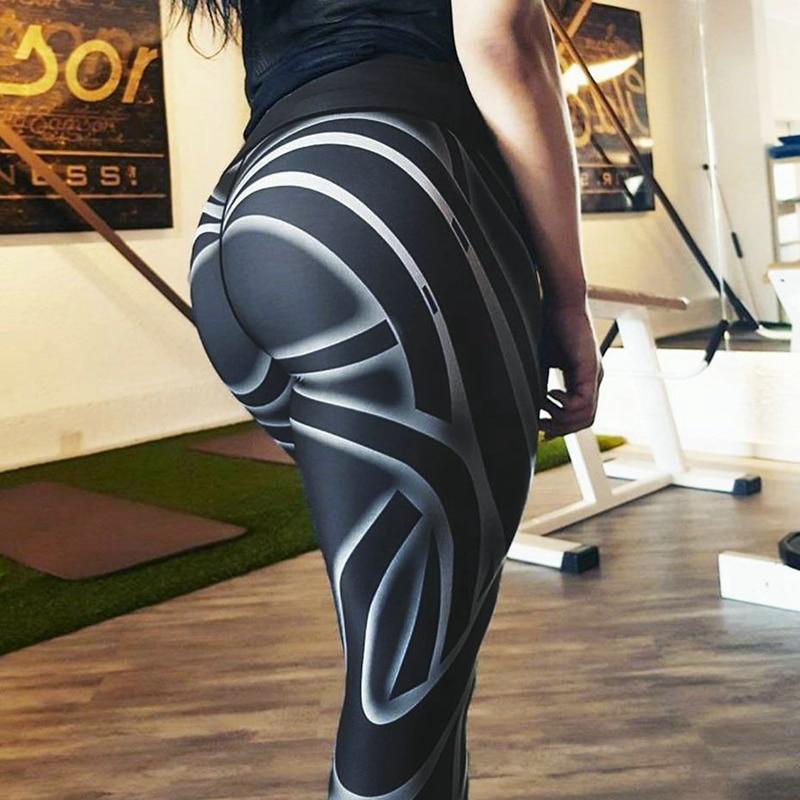 Hayoha Streamer Women Leggings Digital Printing Fitness Leggings For Women Hip High Waist Leggings