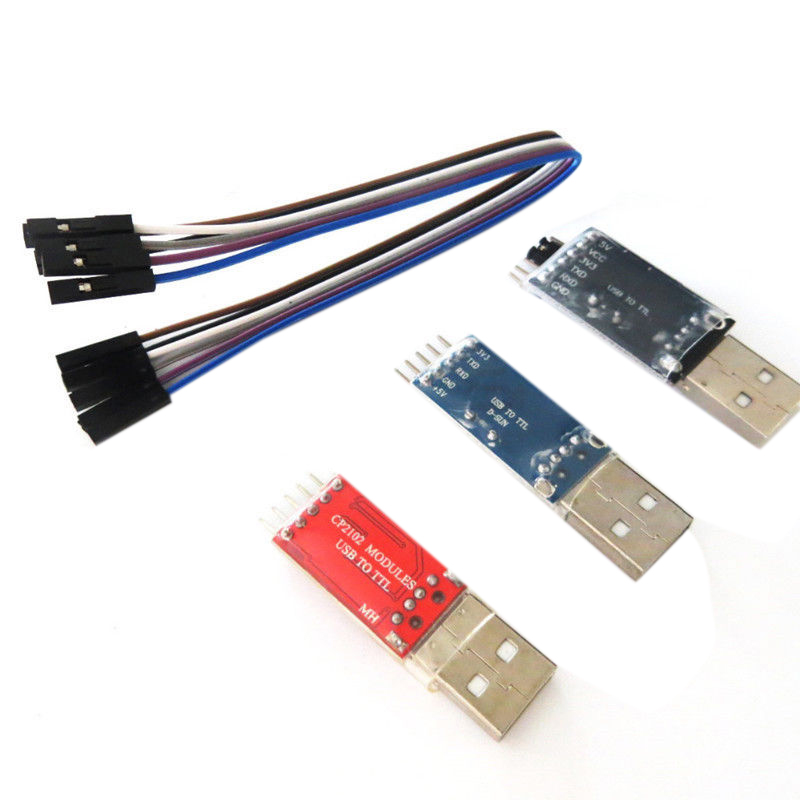 PL2303 CP2102 CH340G Module USB To TTL With 4 Pin DuPont Line Kit