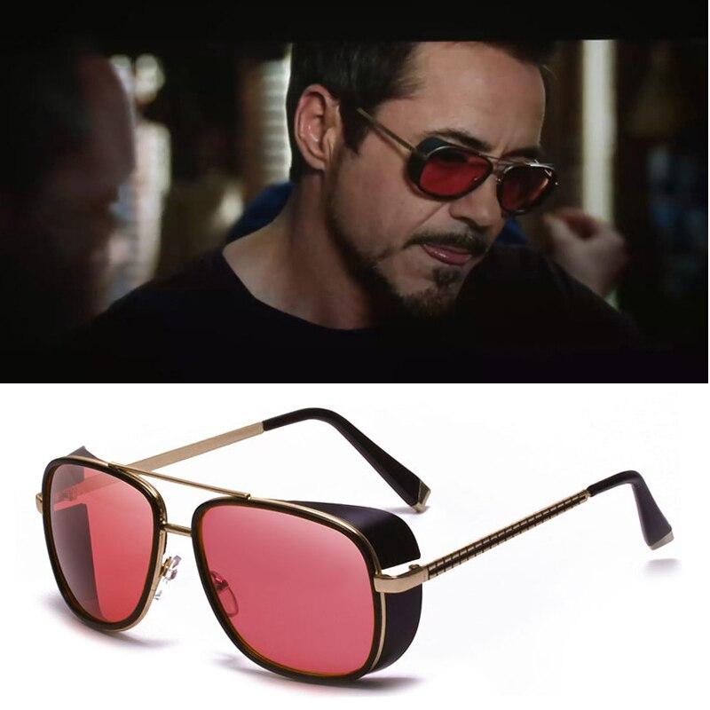 Mode Marque Samjune Iron Man 3 Matsuda TONY stark lunettes de Soleil Hommes Rossi Revêtement rétro Vintage Oculos Lunettes Steampunk UV400