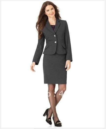 10414d33e6c8 Aliexpress.com: Comprar Trajes de mujer ropa de sastre traje de manga larga  chaqueta y lápiz falda gris oscuro mujeres traje 708 de women suits fiable  ...