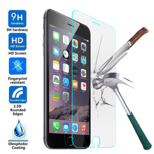 2.5D Tempered Glass For iPhone 4 4S 5 5S 5C SE 6 6S 6Plus 6sPlus 7 7Plus For iPod 4 5 6 Screen Protector Phone Cases Cover Film