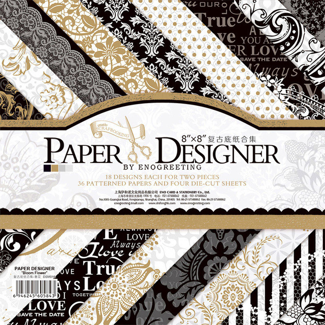 Scrapbooking Paper Origami European Classic Background Craft Paper Cardmaking Damask Vintage Scrapbook Paper