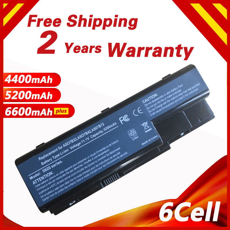 6 cells Laptop Battery for Acer Aspire 5720 5730 5739 5910g 5920 5930G 5935 5942 6530 6920 6930 7220 AS07B31 AS07B41 AS07B71
