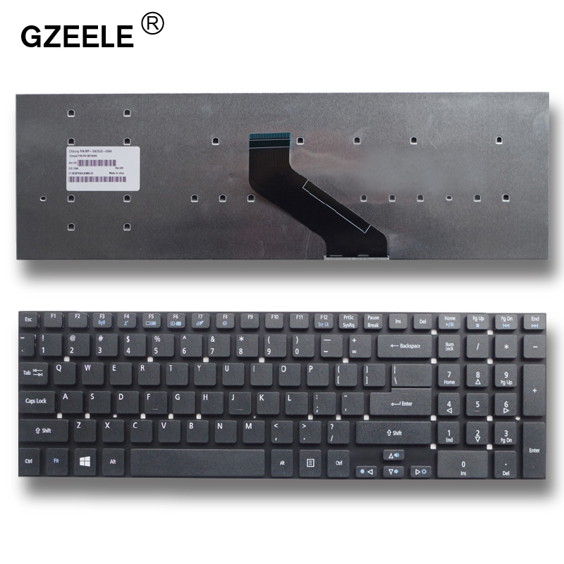 GZEELE English New Laptop Keyboard For Acer For Aspire V3-7710 V3-7710G V3-772G US Replace Keyboard