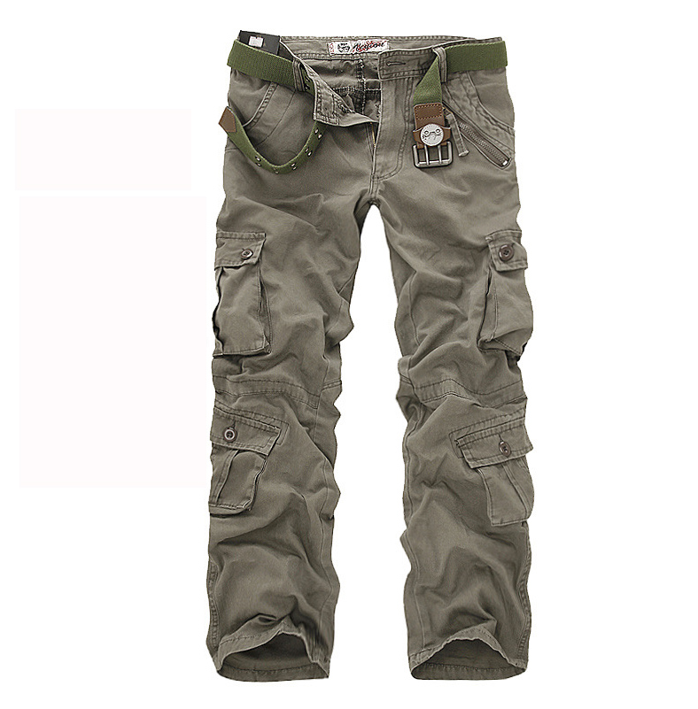 men's pants camping hiking Camouflage Cargo Pants Plus Size Multi-pocket Overalls Trousers camouflage multi pocket loose fit straight leg zipper fly cargo shorts for men