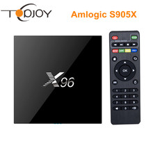 S905X X96 Android 6.0 Amlogic Caja de la TV Inteligente Quad-Core 2G/16G 1G/8G preinstalar KODI 16.1 WIFI 4 K H.265 Reproductor Multimedia Decodificador