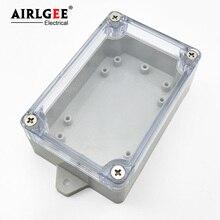 100 мм x 68 мм x 40 мм прозрачная Крышка герметичная DIY IP65 ABS пластиковая проволочная коробка Водонепроницаемая электрическая распределительная коробка с фиксированными отверстиями для крепления