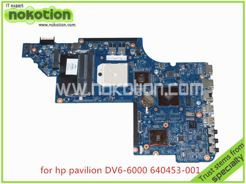 NOKOTION 640453-001 Laptop Motherboard for HP Pavilion DV6 DV6-6000 series HD4200+HD 6470M DDDR3 Mainboard for hp pavilion dv6 6000 notebook dv6z 6100 dv6 6000 laptop motherboard 650854 001 main board ddr3 hd6750 1g 100%
