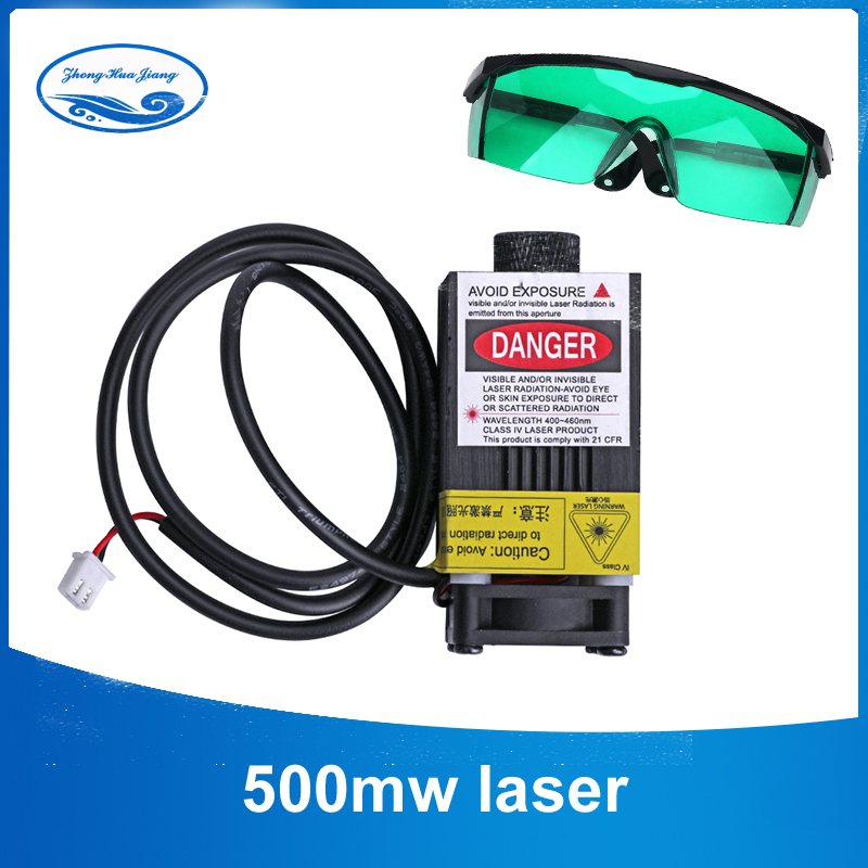 500MW 12V 405NM blue-violet Focusing Laser Module Engraving with Control Laser Tube Diode 2p port+ Free Protective  Goggles500MW 12V 405NM blue-violet Focusing Laser Module Engraving with Control Laser Tube Diode 2p port+ Free Protective  Goggles