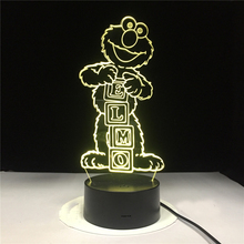 Led Night Light Cartoon Sesame Street ELMO Figure 3d Lamp Home Decoration Birthday Gift for Child Bedroom Novelty Lights