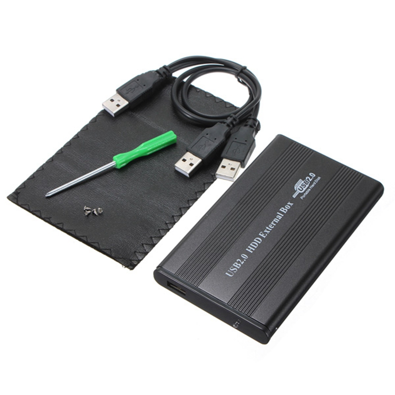USB 2.0 HDD Case 2.5'' inch 44 pin IDE External Storage HDD Hard Disk Drive Enclosure Case Box for Mac OS Notebook Laptop PC 2 5 ide usb 2 0 external hard drive enclosure case black