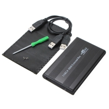 "USB 2.0 HDD Case 2.5"" inch 44 pin IDE External Storage HDD Hard Disk Drive Enclosure Case Box for Mac OS Notebook Laptop PC"