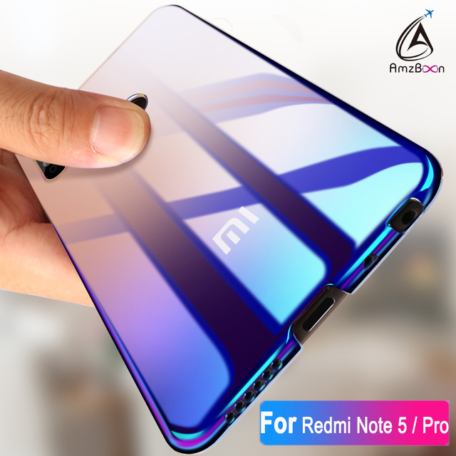 huge selection of 3409b 66503 US $4.84  AmzBoon Case For Xiaomi Redmi Note 5 Pro & 6 Luxury Aurora  Gradient Color Transparent Cover For 5 Plus Phone Case Slim PC Coque-in  Fitted ...
