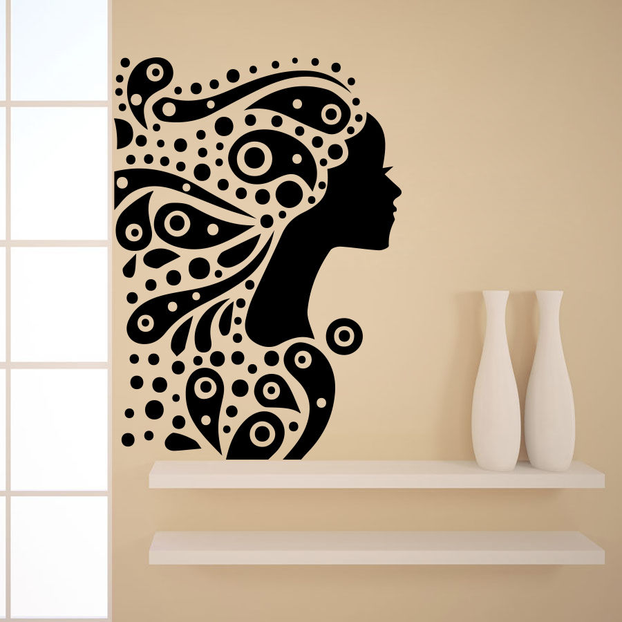 Online Get Cheap Hairstyles Salons Aliexpresscom Alibaba Group - Custom vinyl wall decals for hair salon
