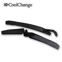 1 Pair High Elastic Plastic Bicycle Fenders Cycling Road Mountain Bike MTB  Quick Release Front Rear Mudguard Set