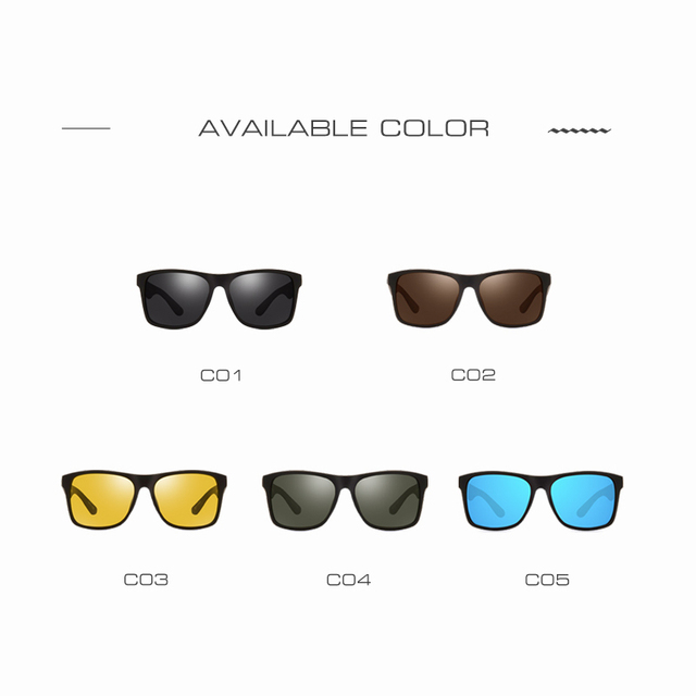 AOFLY BRAND DESIGN Night Vision Glasses Polarized Sunglasses Men Yellow Anti Glare Vintage Driving Sun Glasses Goggles UV400  4
