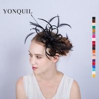 21Colors Women Church Hair Ornaments Imitation Bow Hairband Sinamay DIY Bow Fascinator Wedding Psrty Hat Hair