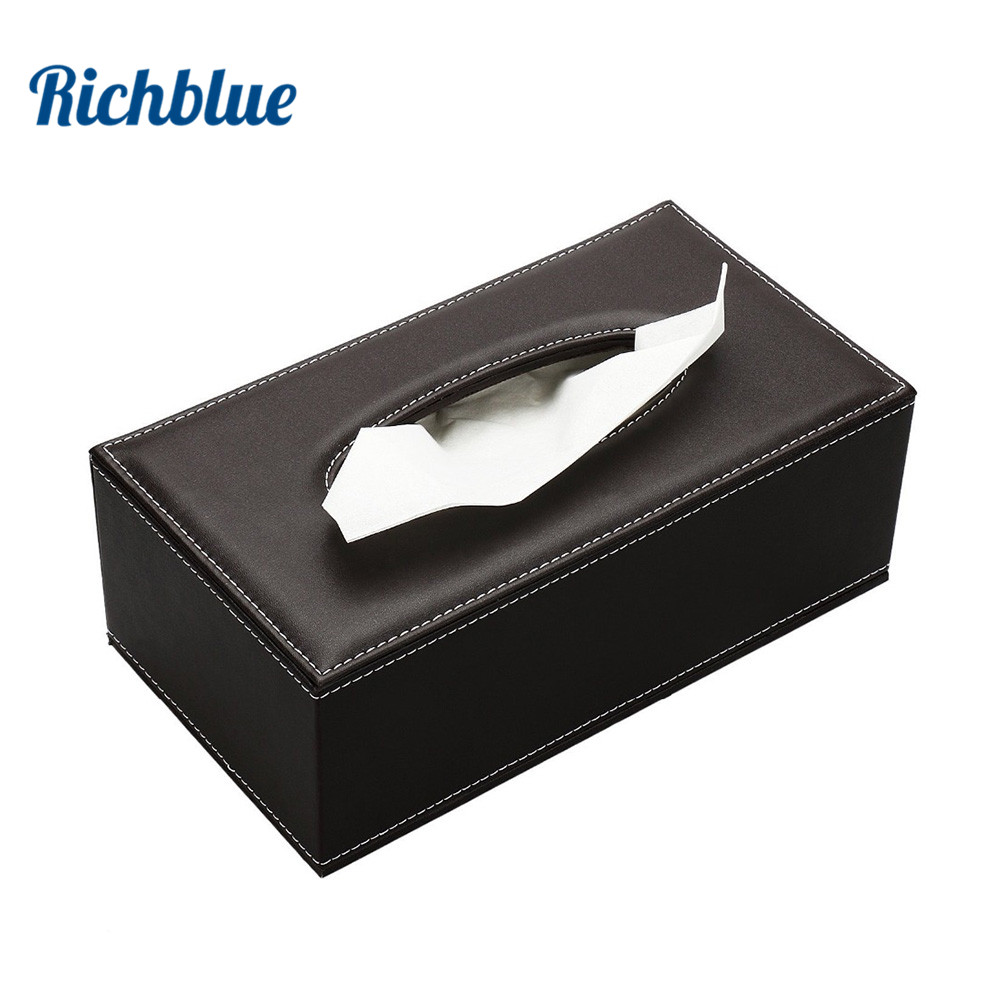 Raft letre Elegant Royal Car Car Home Rectangle Forma Tube Box Box Container Towel Tapë Pecetë
