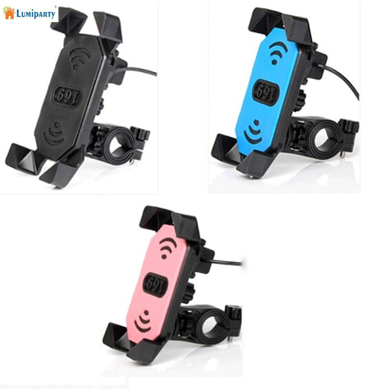 Adeeing Motorcycle Electric Car Bike Phone GPS Holder Clip with USB Charger Universal Application phone charger