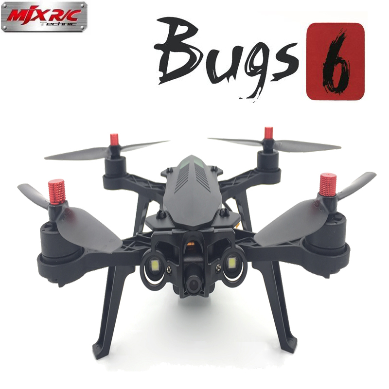 MJX Bugs 6 B6 RC Drone 2.4G 6-Axis Brushless Motor Racing Drone with Camera HD FPV RC Quadcopter Remote Control RC Helicopter mini drone rc helicopter quadrocopter headless model drons remote control toys for kids dron copter vs jjrc h36 rc drone hobbies