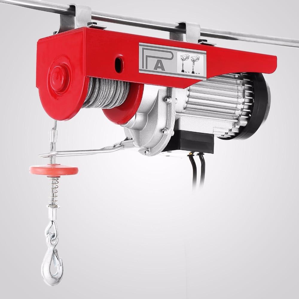 1320 LBS 110V Electric Cable Hoist Crane Lift Garage Auto Shop Winch W//Remote US