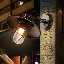 Amerykański wiejski styl Retro kinkiet w stylu Loft magazyn przemysłowy salon przejście nocna balkon dekoracyjny Edison kinkiet