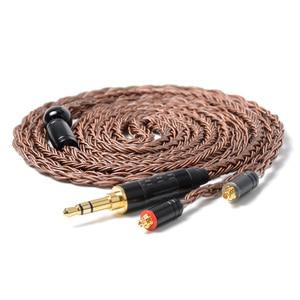 Image 2 - Nicehck cabo de fone de ouvido em cobre, cabo de fone de ouvido de alta pureza, 16 núcleo, conector mmcx/2 pinos para tfz, 3.5/2.5/4.4mm trnv90 zsx ccac12 nicehck f3/nx7 pro/db3