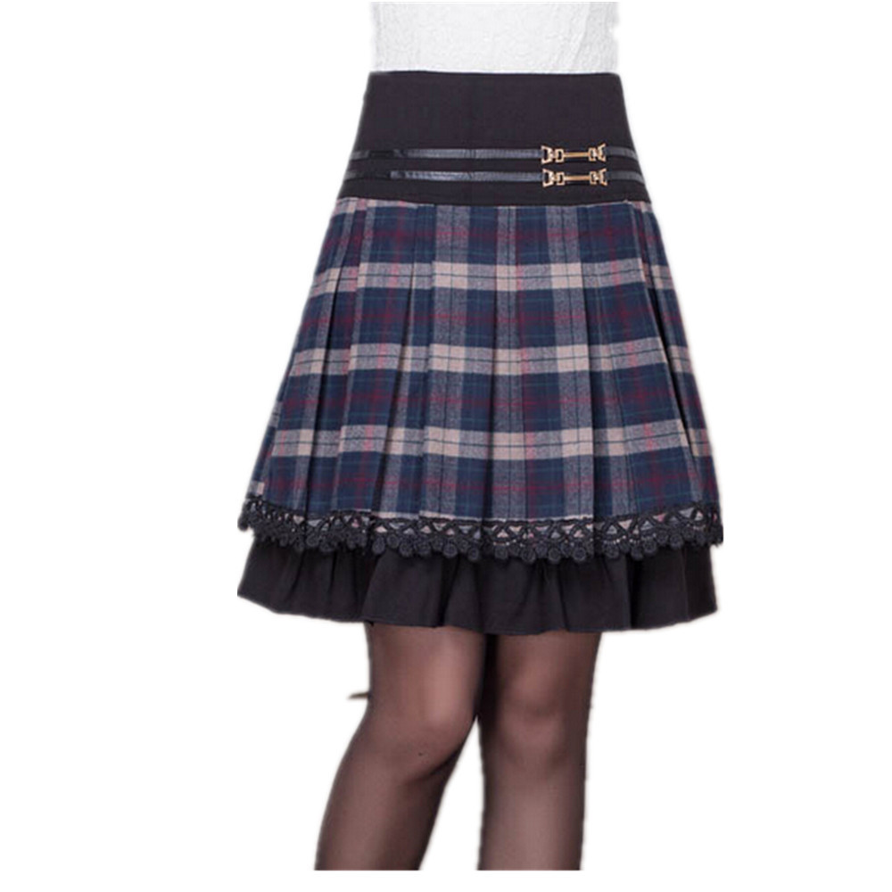 Creative Popular Red Pleated Plaid SkirtBuy Cheap Red Pleated Plaid Skirt Lots