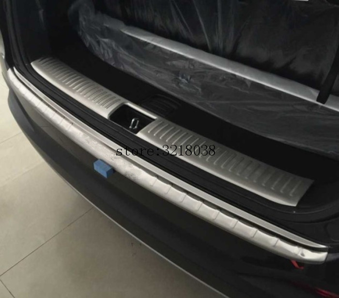 Free Shipping car styling for 2015 2016 2017 KIA Sorento High quality stainless steel Rear bumper Protector Sill , car styling цена